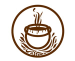 le logo d'un chaudron en feu