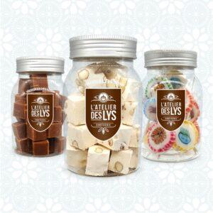 Bonbonnières de confiseries et chocolats